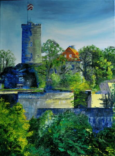 Sparrenburg im Sommer, Gemälde
