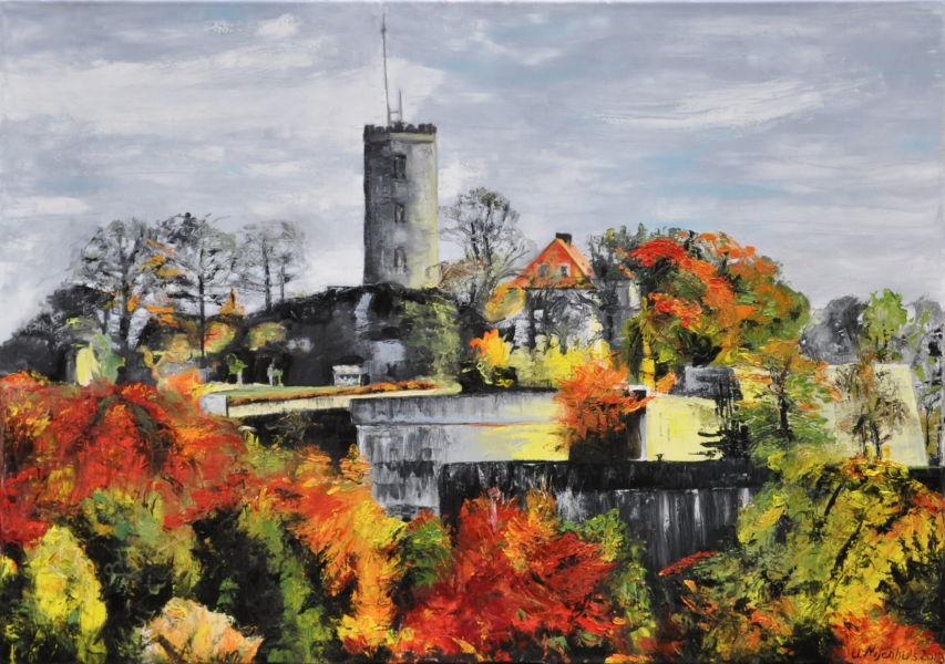 Sparrenburg im Herbst, Gemälde